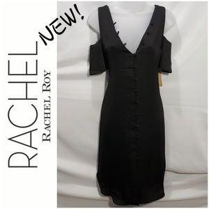 NWT! RACHEL ROY black cold shoulder dress *med